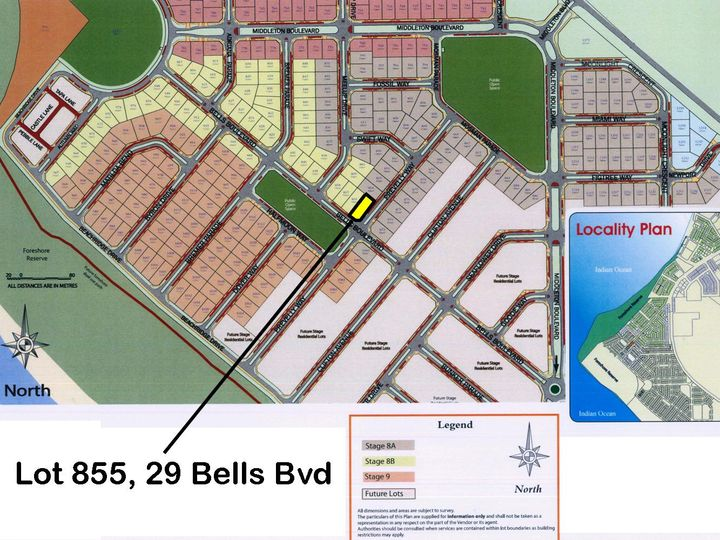Lot 855, 29 Bells Boulevard, Jurien Bay, WA