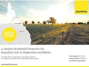 Aurizon Property Dispersal - Surplus Properties To Be Sold Immediately - Hughenden