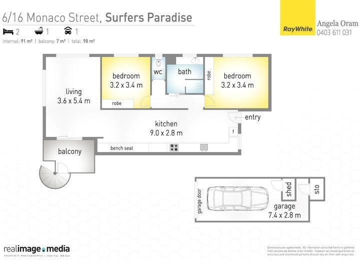 6/16 Monaco Street, Surfers Paradise, QLD
